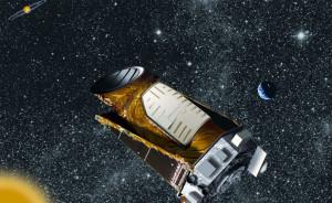 Rappresentazione artistica di Kepler in orbita - Credits: NASA