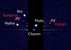La mappa dei nuovi nomi delle lune di Plutone - Hubble image: NASA, ESA and M. Showalter/SETI