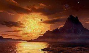 Interpretazione artistica di Gliese-581 by David-Hardy