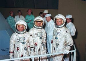 L'equipaggio di Apollo 204 - Credits: THE SPACEFLIGHT PHOTO SET
