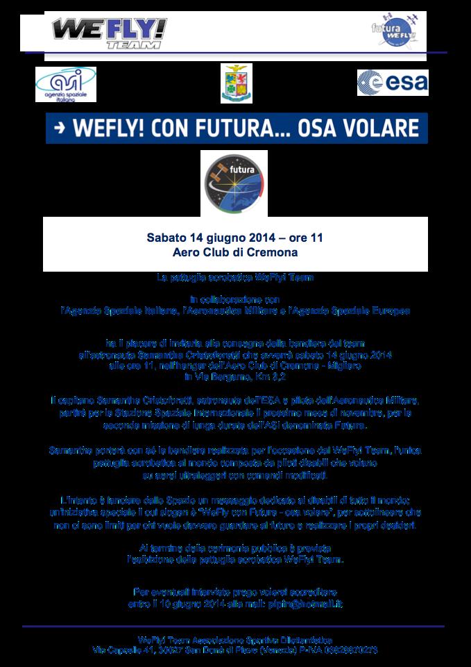 INVITO WeFly con Futura Cremona 14 giugno 2014
