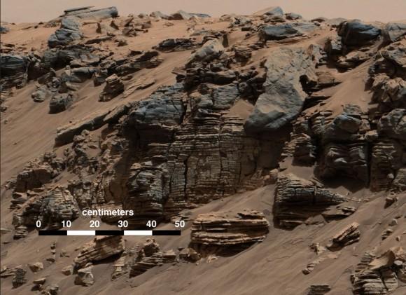Rregione Kimberly Strati di roccia sedimentaria - Credits: NASA /JPL Caltech / MSSS
