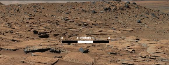 Regione Kimberly - I depositi di arenaria dei piccoli delta dei fiumi del craterel Gale - Credit: NASA/ JPL Caltech/ MSSS