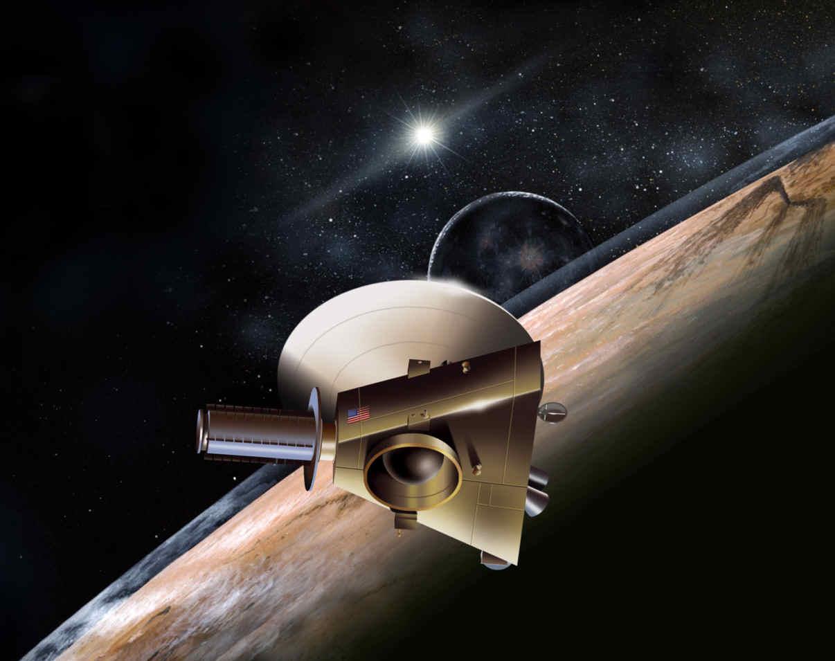 Rappresentazione artistica della New Horizons - Credits: NASA