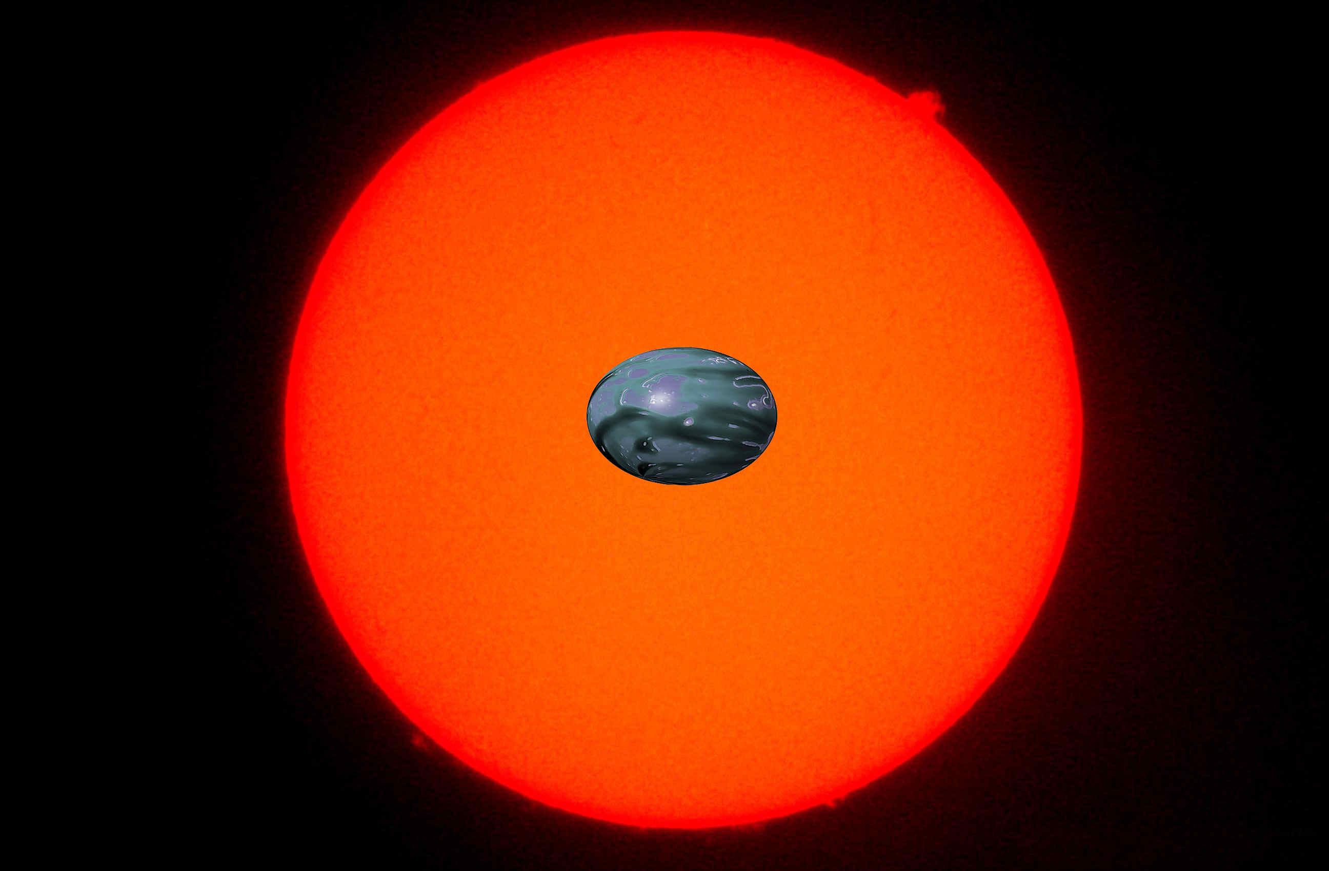 Rappresentazione artistica di un pianeta dalla forma allungata - Credits Shivam Sikroria.