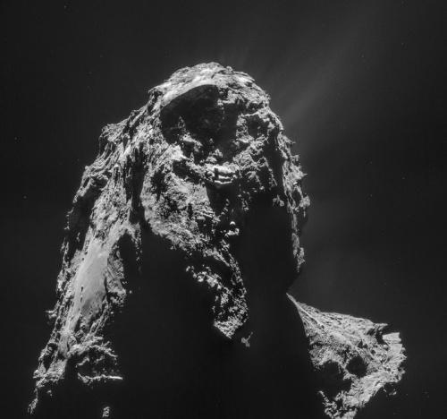 La 67P fotografata il 16 gennaio 2015 - Credits: ESA/Rosetta/NAVCAM – CC BY-SA IGO 3.0