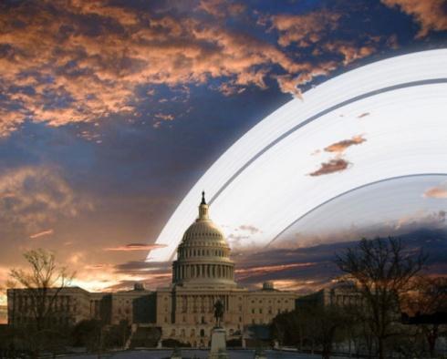 Gli anelli dalla prospettiva DI Washington DC, USA  - Copyright degli aventi diritto