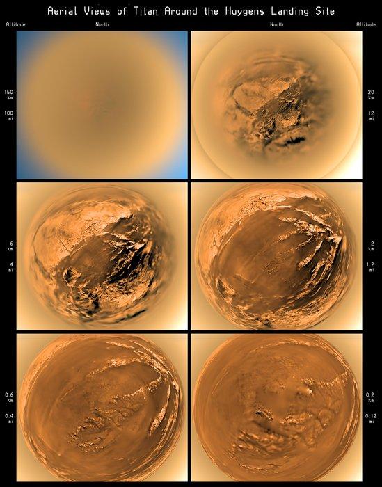 Titano ripreso durante l'ascesa della Huygens il 14 gennaio 2005 - Credits: ESA-NASA-JPL-University of Arizona