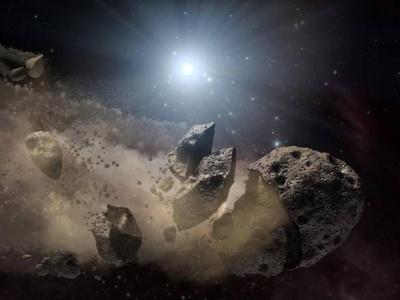 Ricostruzione artistica della fascia degli asteroidi - Copyright degli aventi diritto