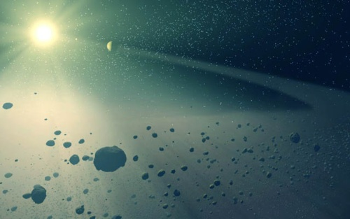 Ricostruzione della fascia d'asteroidi - Copyright degli aventi diritto