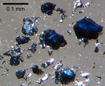 Frammenti di ringwoodite di laboratorio - Credits: Steve Jacobsen - Northwestern University