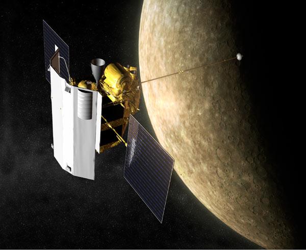 Rappresentazione della sonda Messenger - Credits: NASA
