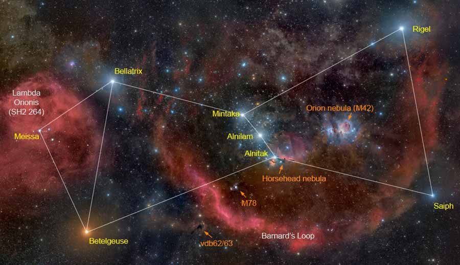 Costellazione dell'Orione - Credits: NASA