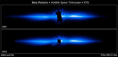 Il disco protoplanetario di Beta Pictoris fotografato da Hubble - Credits: NASA, ESA, and D. Apai and G. Schneider (University of Arizona)