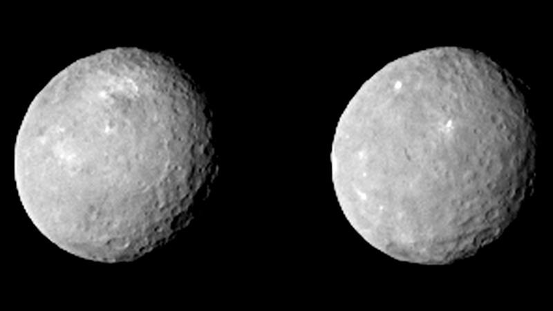Le immagini del pianeta nano Cerere ripreso dalla sonda Dawn in avvicinamento il 12 febbraio 2015 - Credits: NASA