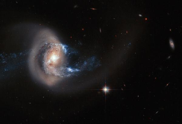 Galassia a spirale NGC 7714 - Credits: NASA