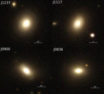 Le quattro galassie analizzate dal team di Wong