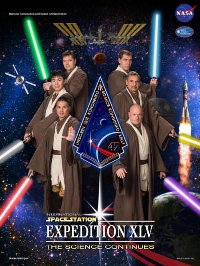Locandina alternativa della Expedition 45 - Credits: NASA
