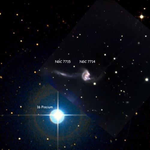Galassia a spirale NGC 7714 e l'interazione con NGC 7715 - Credits: Adam Block-NOAO-AURA-NSF
