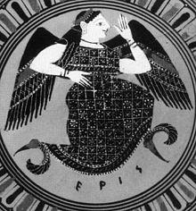 Pittura vascolare greca che ritrae Eris - Credits: Antikensammlung Berlino