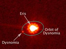 Eris e Dysnomia - Credits: Hubble Space Telescope