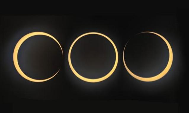 Bellissima sequenza che mostra un eclissi anulare - Copyright degli aventi diritto
